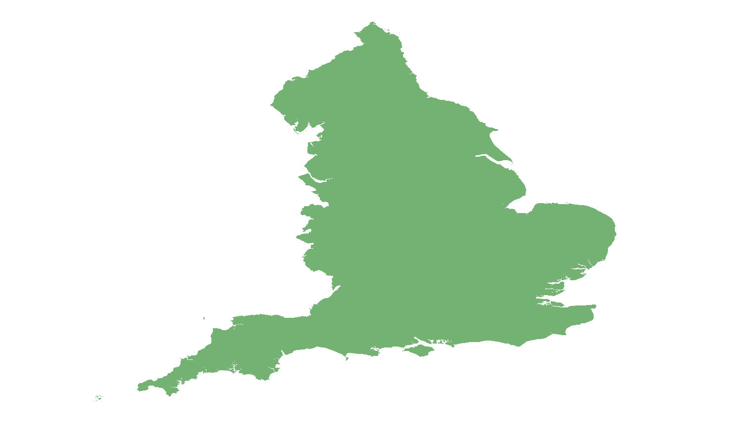 blank map of England